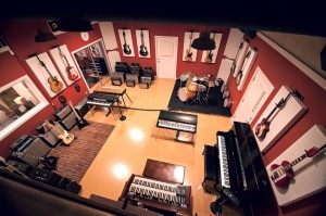 Bass traps by GIK Acoustics in Lost ask studio