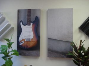 GIK Acoustics acoustic art panels on wall diptych
