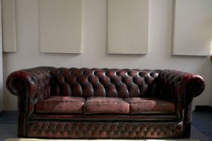 DoctorMix Room B with GIK 242 Acoustic Panels above Sofa