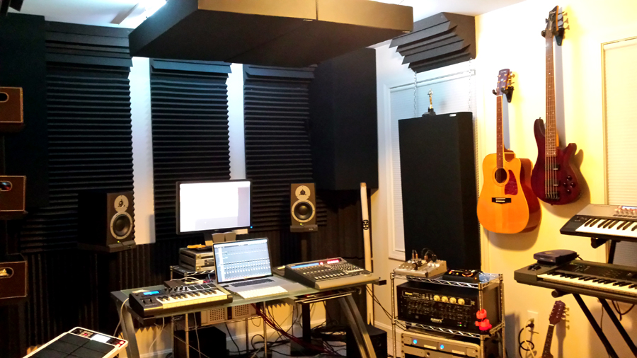 Beach house studios - Bedroom studio acoustic treatment ...