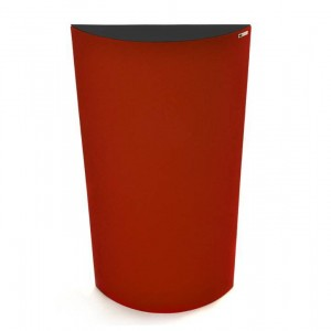 GIK Acoustics Poly Diffusor Red w black top