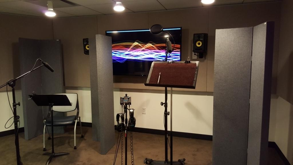 GIK Screen Panels in the EIF Voiceover Lab