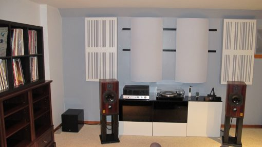 bass trap diffusor alpha series by GIK Acoustics Tony Anello listening room