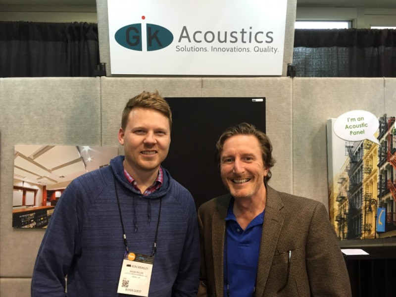 Jason Miller with Glenn Kuras at NAMM 2016.