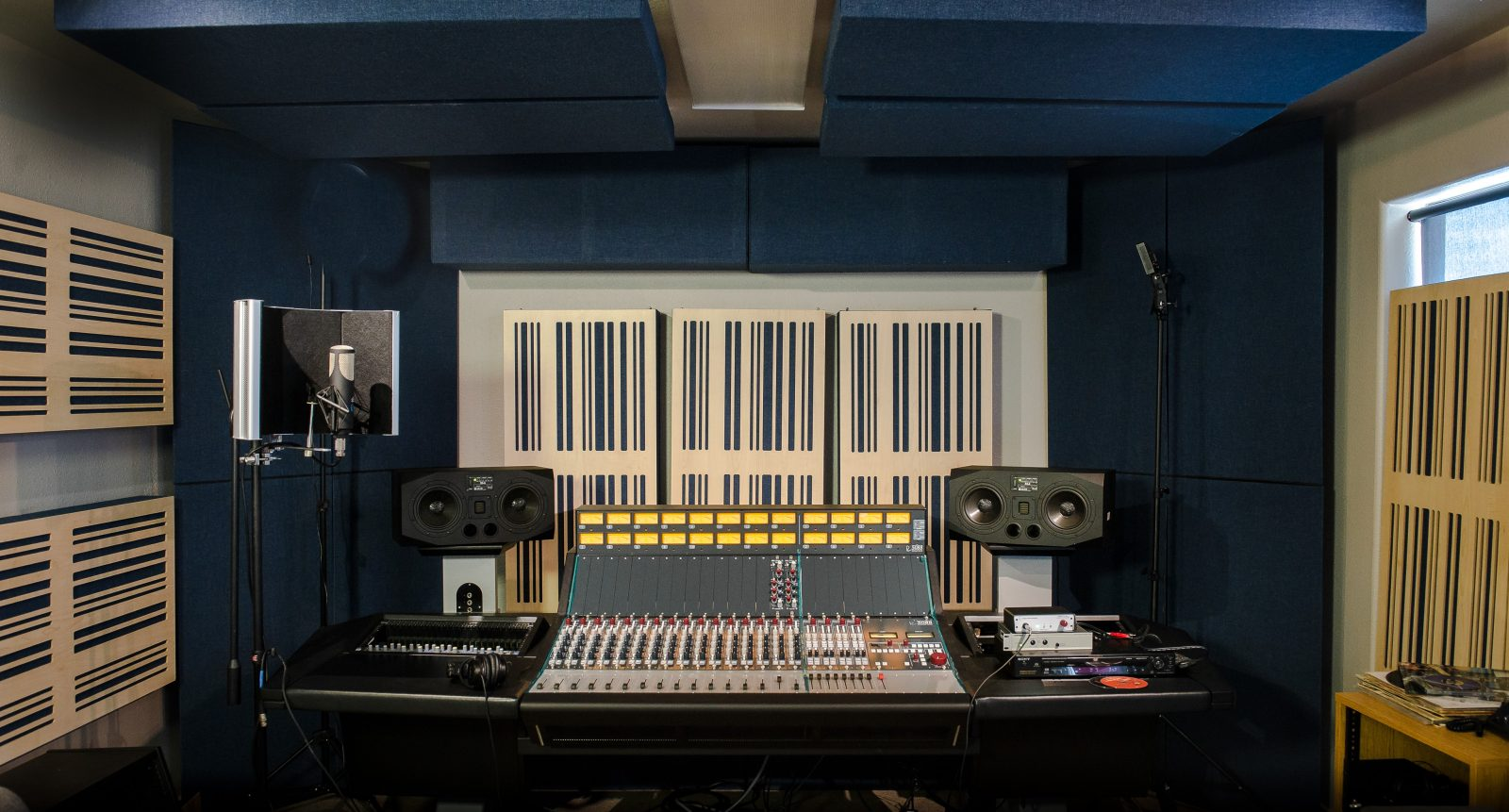 Alpha Series Bass Traps by GIK Acoustics in Rupert Neve studios