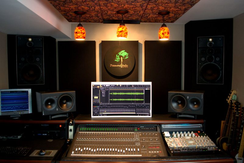 GIK acoustics bass traps Diamond Oaks Studio
