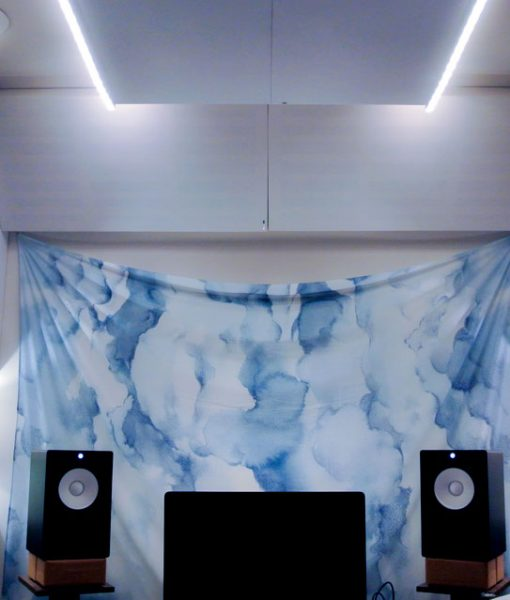Home Recording Studio Acoustics Bass trapping with soffit bass traps in Bram Kaprow studio