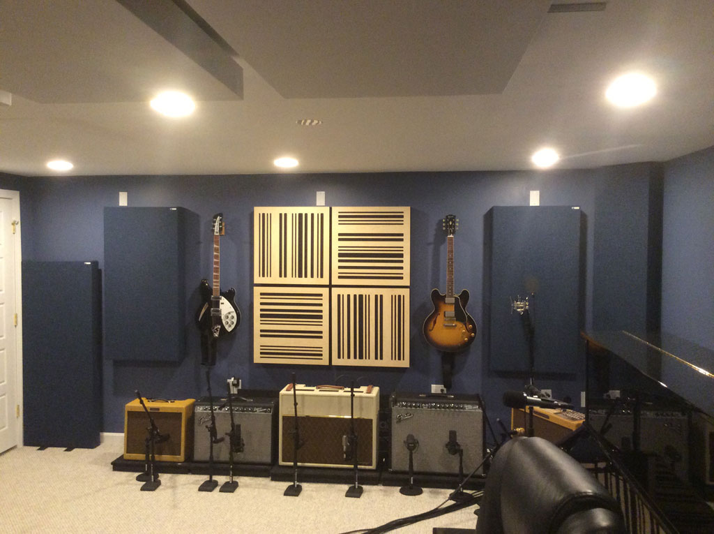 Melissa Warneck GIK Acoustics ceiling clouds bass traps studio