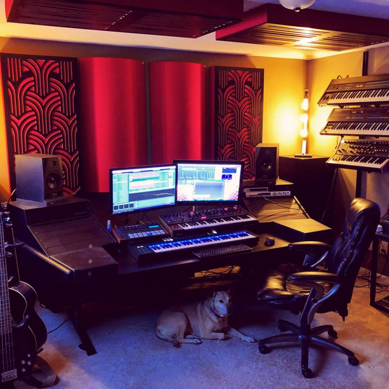 Tyler Carson Home Recording Studio with Gatsby and ceiling alpha panels