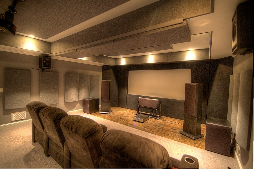 GIK Acoustics home theater polyfusors