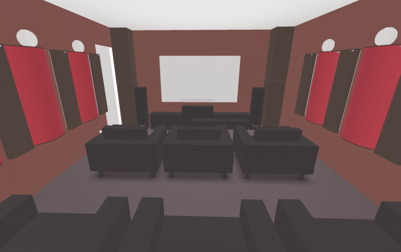GIK Acoustics Home theater Plan inside