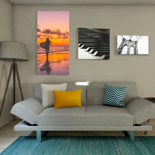 Affordable galllery quality sound absorbing canvas prints in different sizes in residential or office