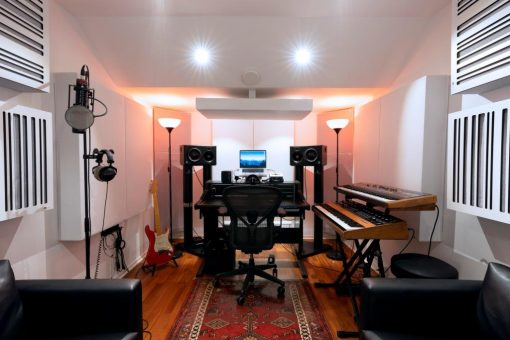 Recording Studio and mixing room using GIK Acoustics Monster Bass Trap and Alpha Series panels _ Ollipop Studio